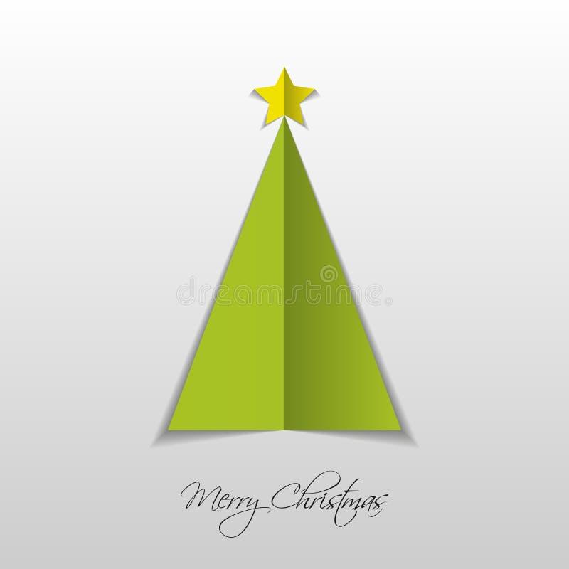 Arbre de Noël de Livre vert Vecteur illustration de vecteur