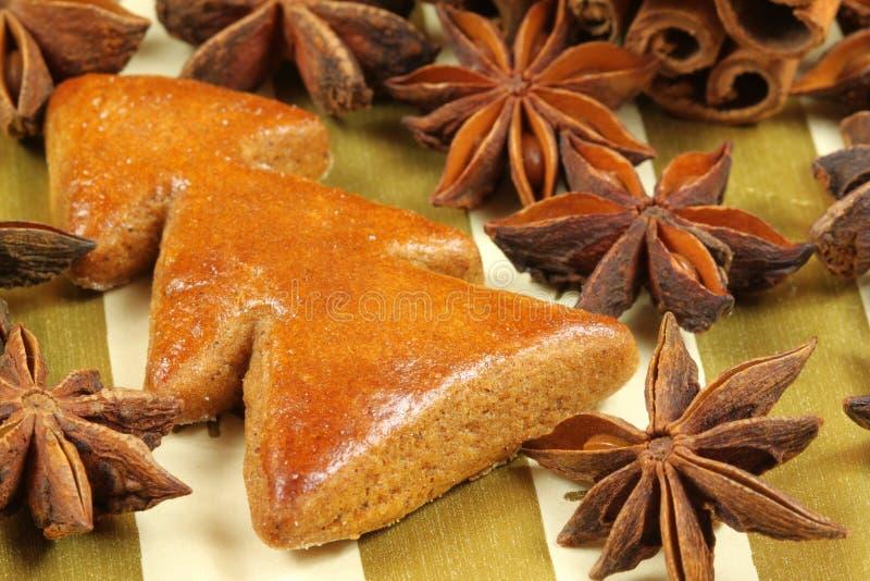 Arbre de Noël de pain d'épice photographie stock