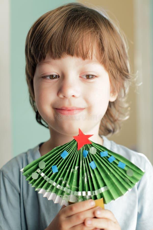 arbre de Noël de papier image stock