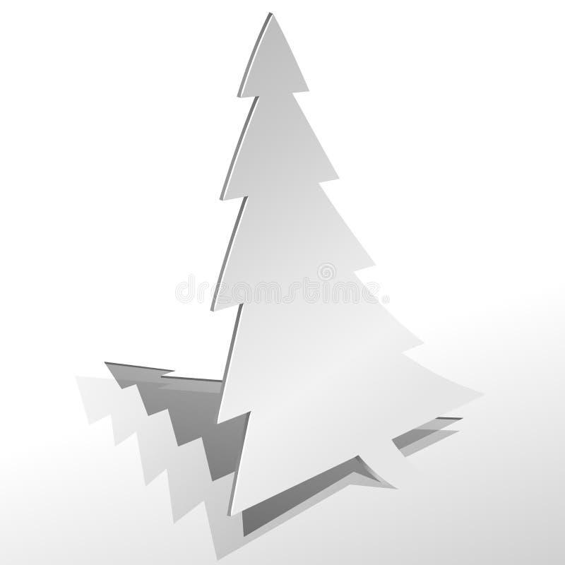 Arbre de Noël de papier enroulé illustration libre de droits