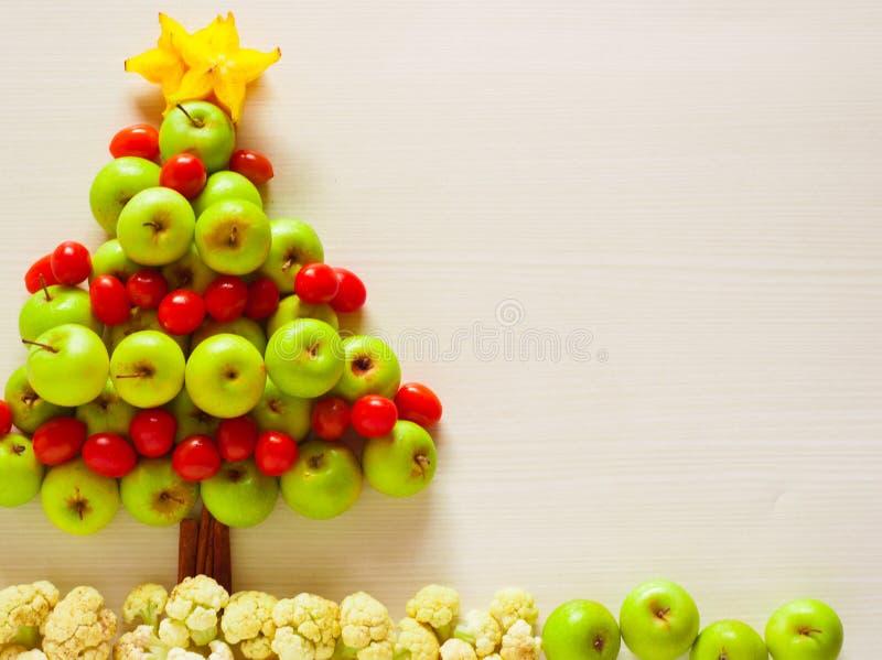 arbre de Noël de photo de fruit frais, image stock