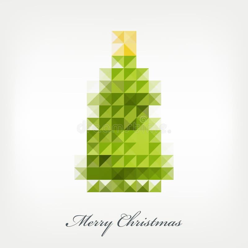 Arbre de Noël de pixel illustration libre de droits