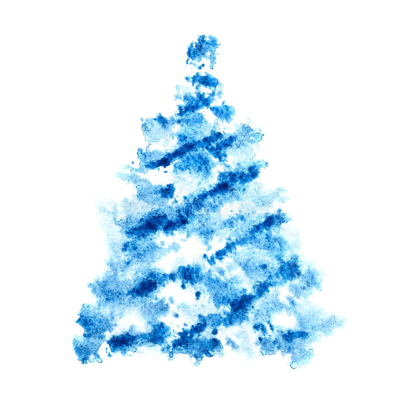 Arbre de Noël de Scetched illustration stock
