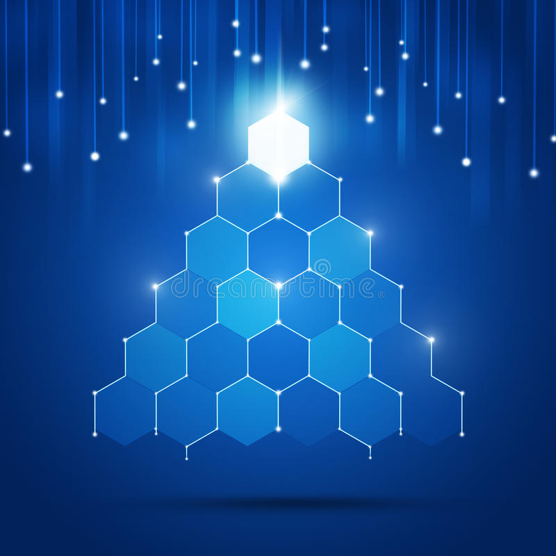 Arbre de Noël de technologie illustration stock