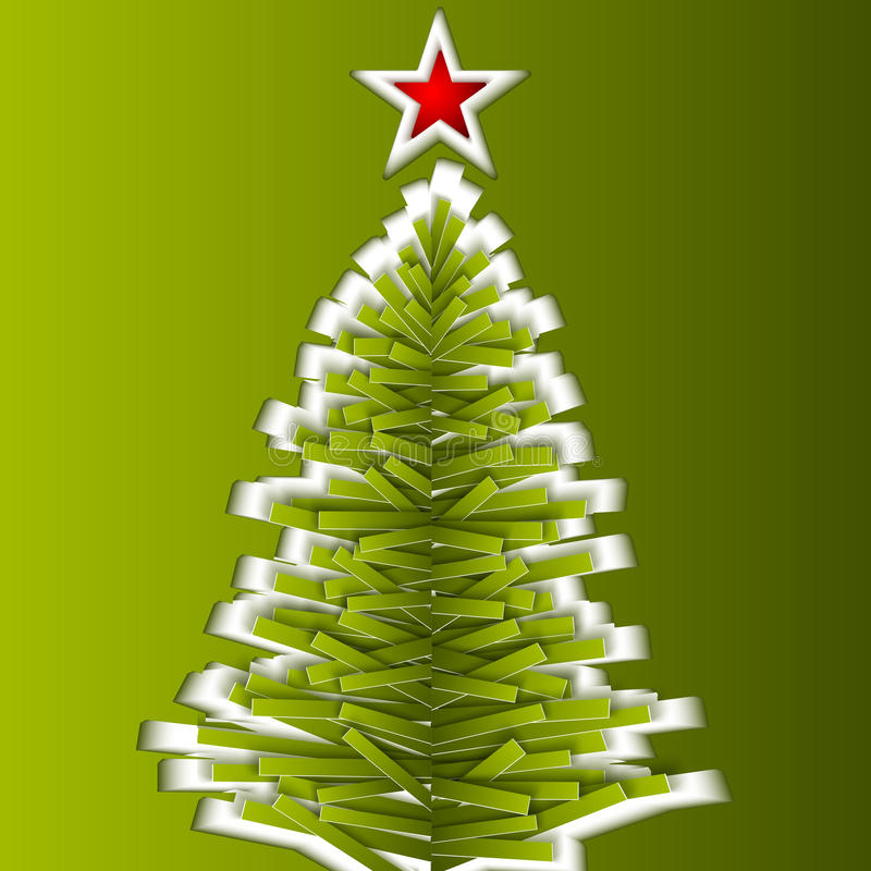 Arbre de Noël de vecteur de Livre vert illustration stock