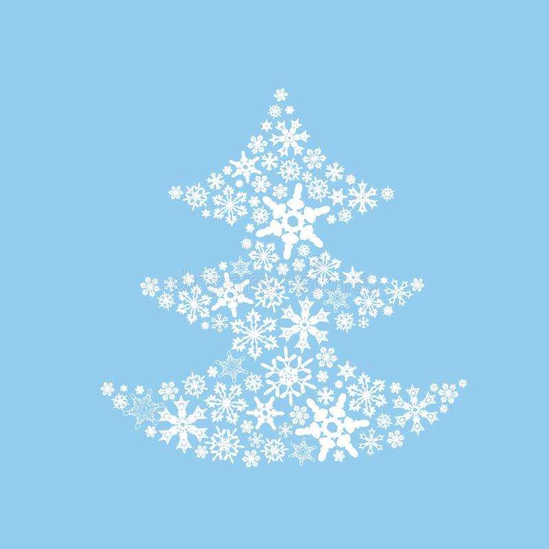 Arbre de Noël des flocons de neige photo stock