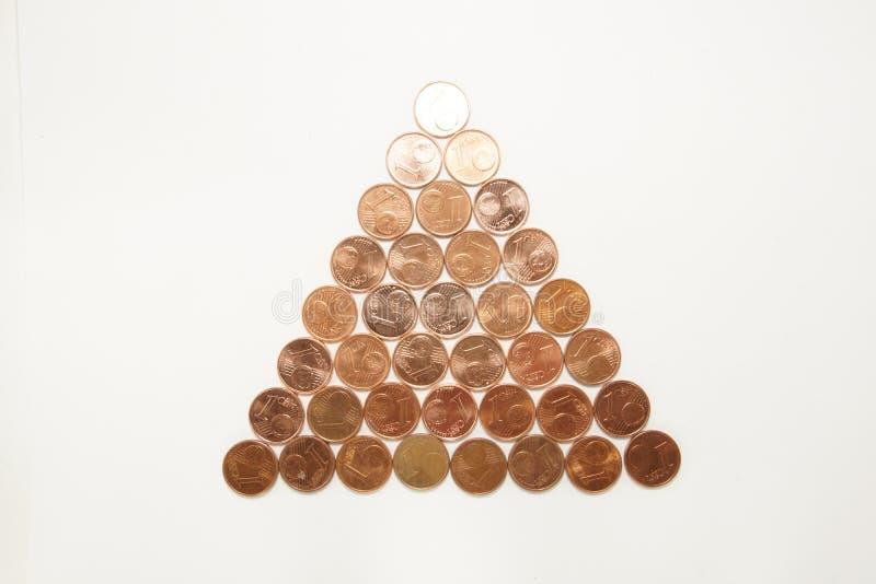 Arbre de Noël des pièces de monnaie photos stock