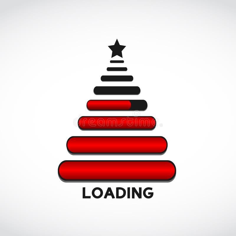 Arbre de Noël effectué à partir des bars de charge de Web illustration stock