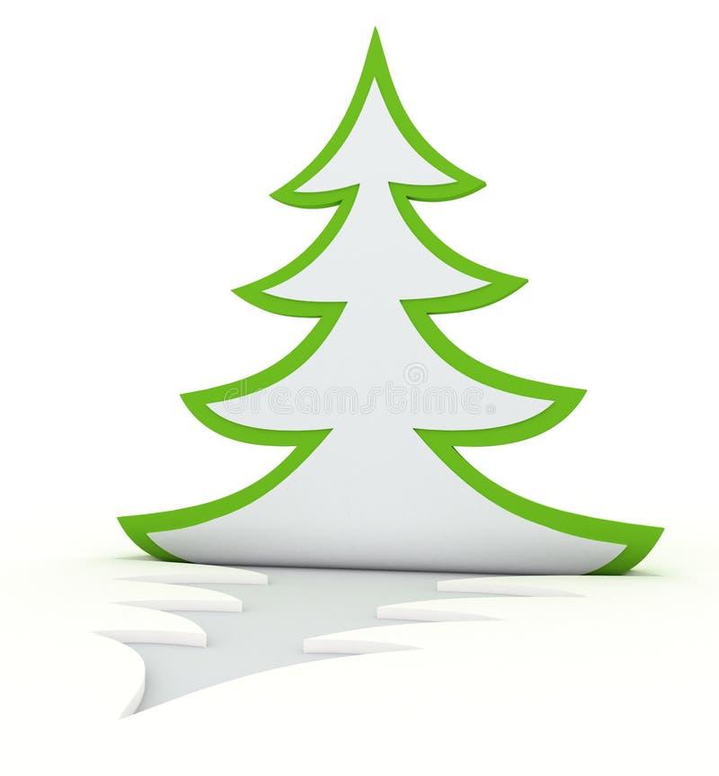 Arbre de Noël enroulé illustration stock