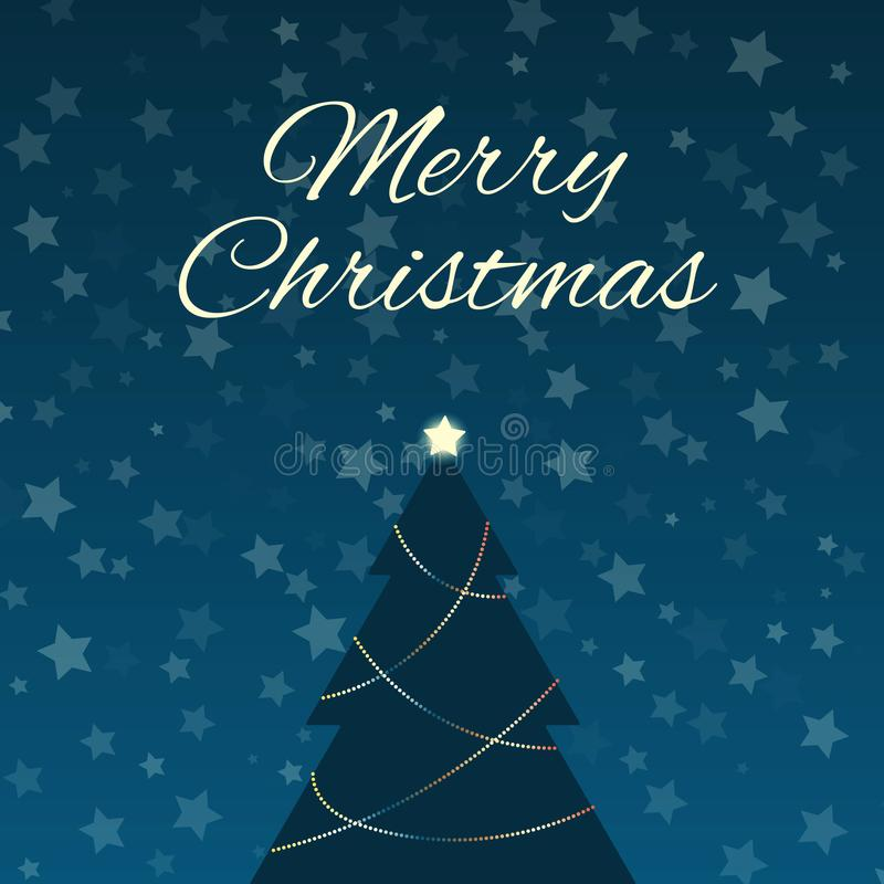 Arbre de Noël et ciel étoilé photos libres de droits