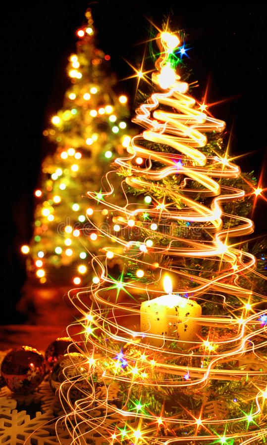 Arbre de Noël et la bougie illustration libre de droits