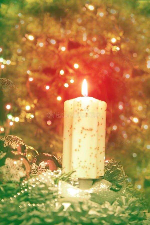 Arbre de Noël et la bougie image libre de droits
