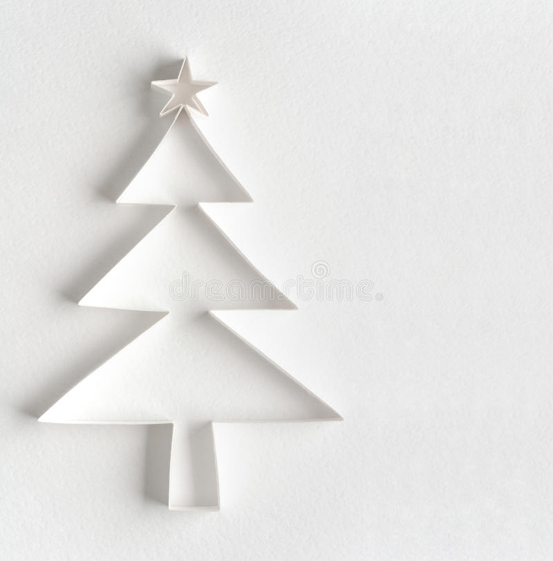 Arbre de Noël fait de papier photo libre de droits
