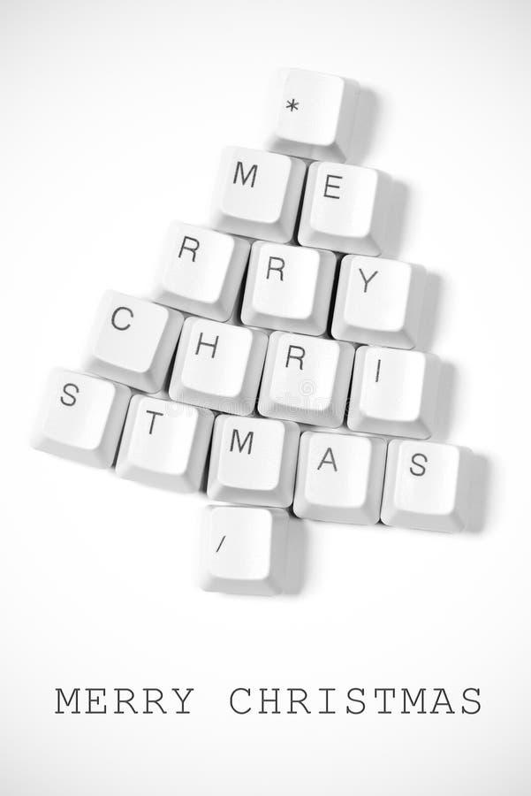 Arbre de Noël fait de touches d'ordinateur photos libres de droits