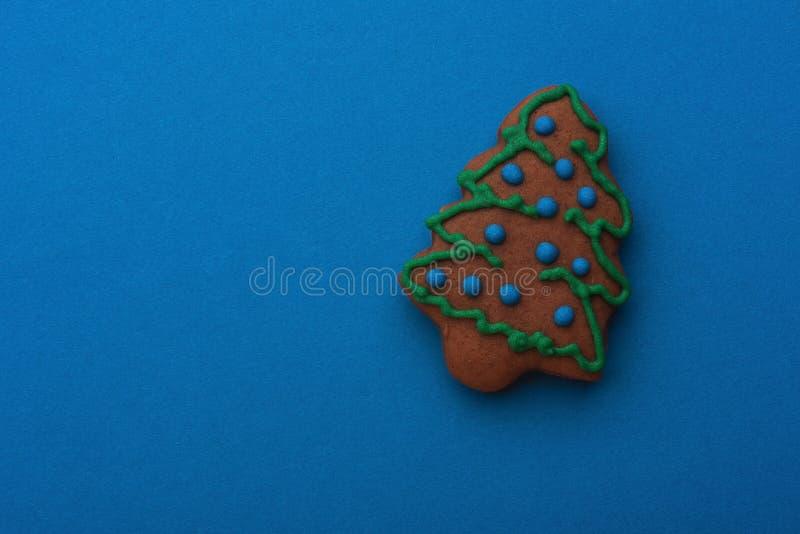 Arbre de Noël fait main de pain d'épice photographie stock