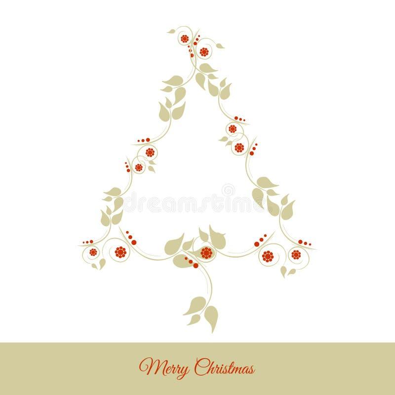 Arbre de Noël floral illustration libre de droits