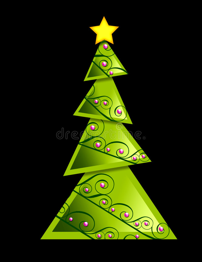 Arbre de Noël - géométrique illustration stock