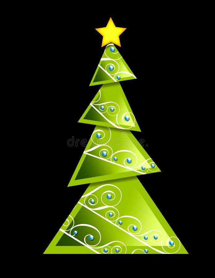 Arbre de Noël - géométrique illustration de vecteur