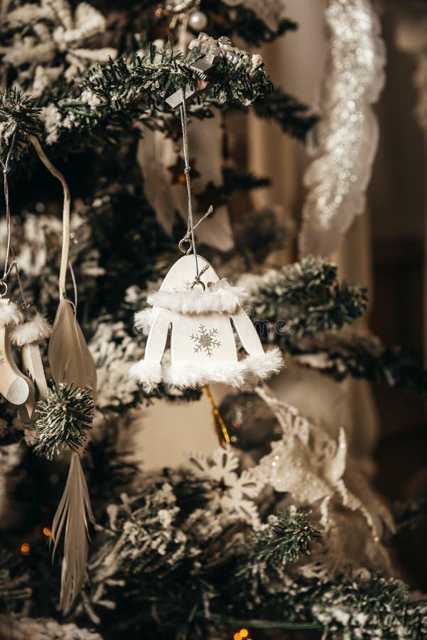 Arbre de Noël, jouets, décoration, blanc, décoration, Noël, nouvel an images stock
