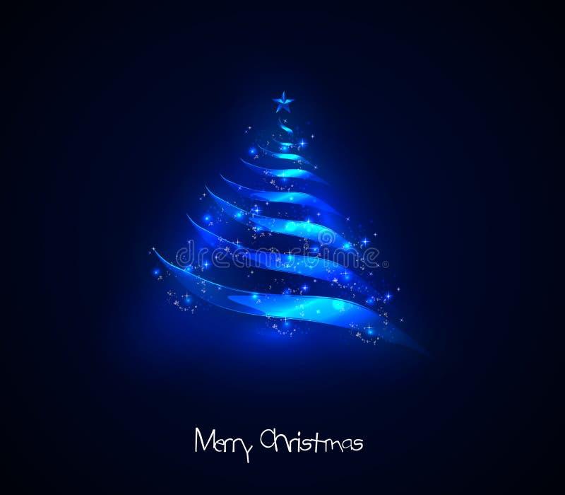 Arbre de Noël léger illustration de vecteur