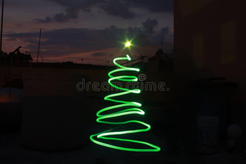Arbre de Noël léger photographie stock
