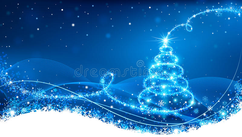 Arbre de Noël magique illustration stock