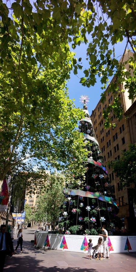 Arbre de Noël Martin Place Sydney photographie stock