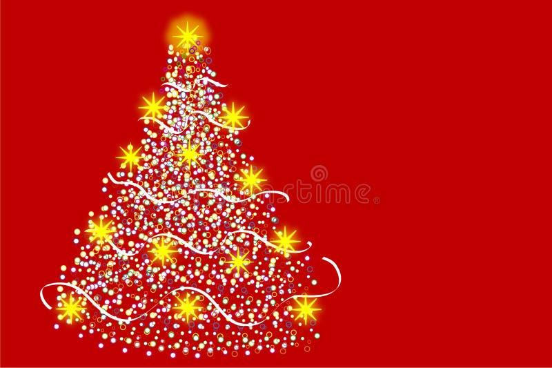 Arbre de Noël multicolore illustration libre de droits