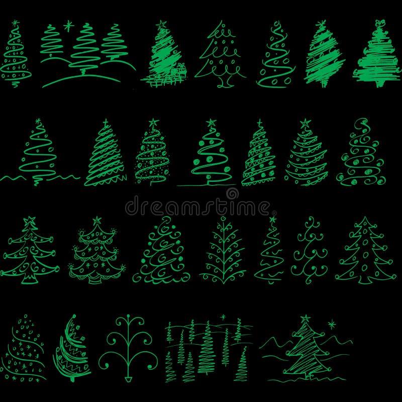 Arbre de Noël pour des vacances tout de Noël les gens illustration de vecteur