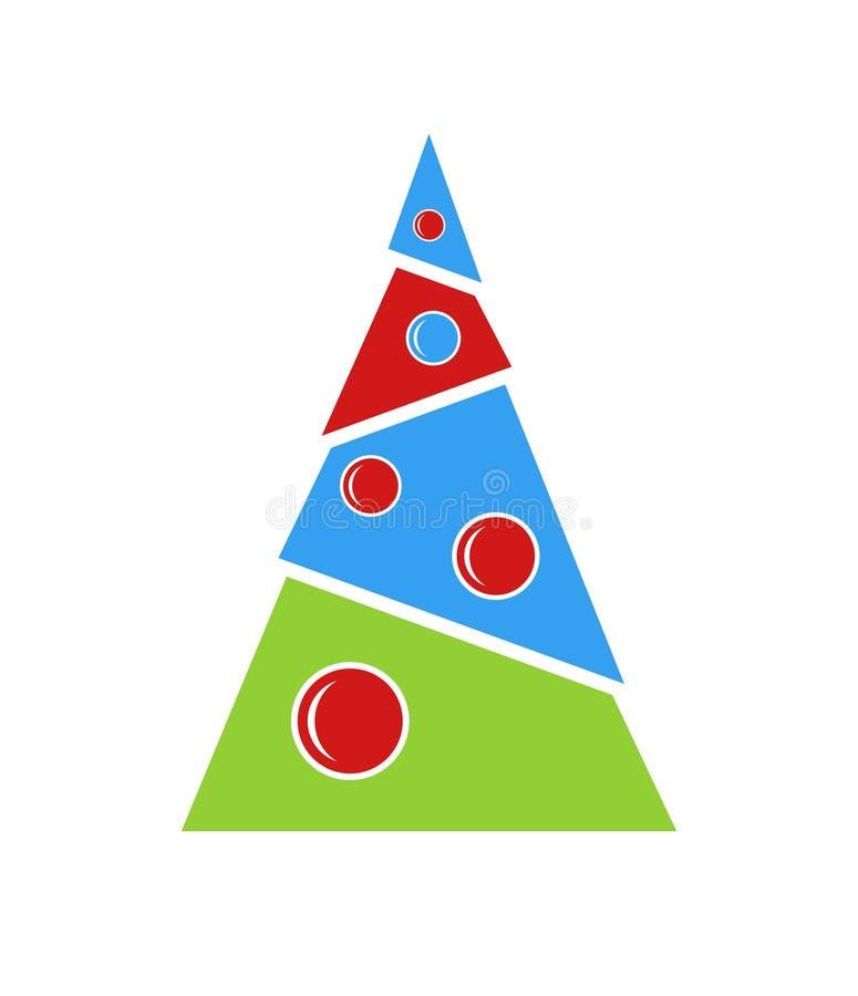 Arbre de Noël pour la carte de voeux illustration libre de droits