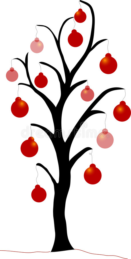 Arbre de Noël rouge illustration de vecteur