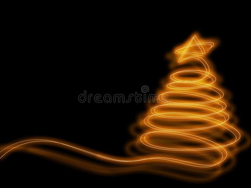 Arbre de Noël rougeoyant photographie stock libre de droits