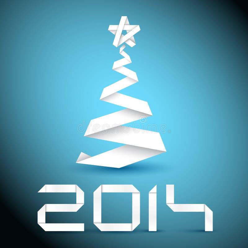 Arbre de Noël simple de vecteur fait à partir de la rayure de livre blanc illustration libre de droits