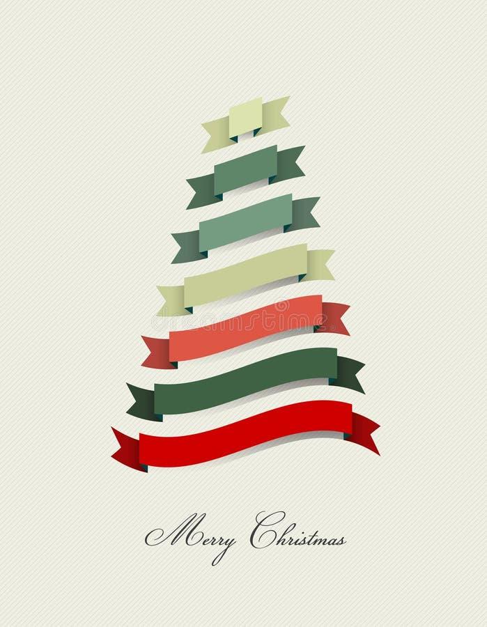Arbre de Noël stylisé illustration libre de droits