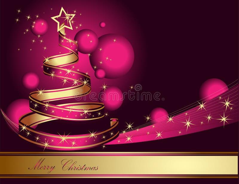 Arbre de Noël stylisé de ruban photos stock