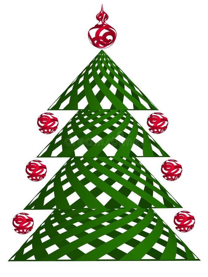 Arbre de Noël stylisé pour le souhait illustration de vecteur
