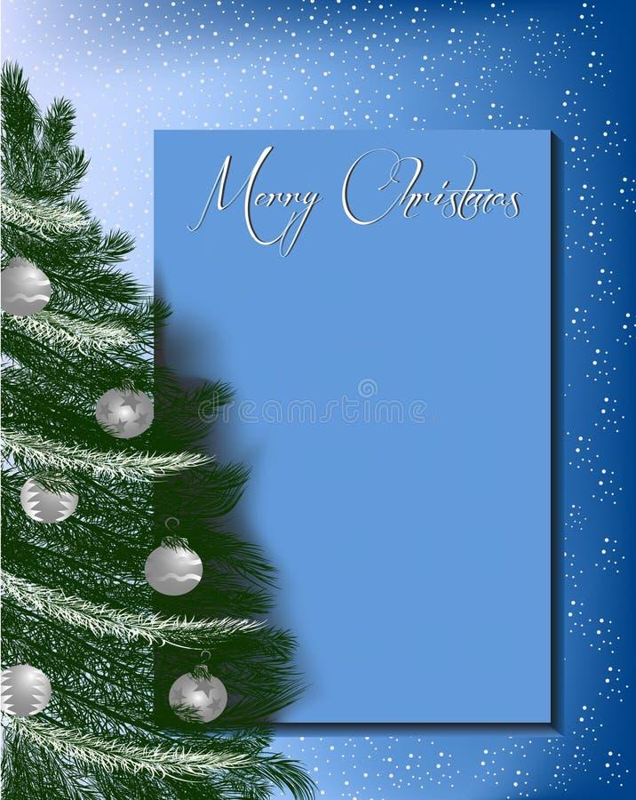 Fond D En Tête De Lettre De Noël Illustration De Vecteur