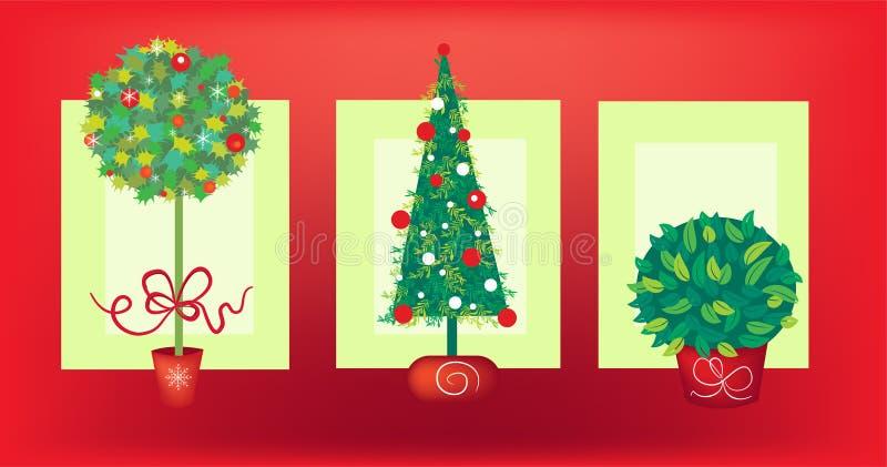Arbre de Noël trois illustration libre de droits