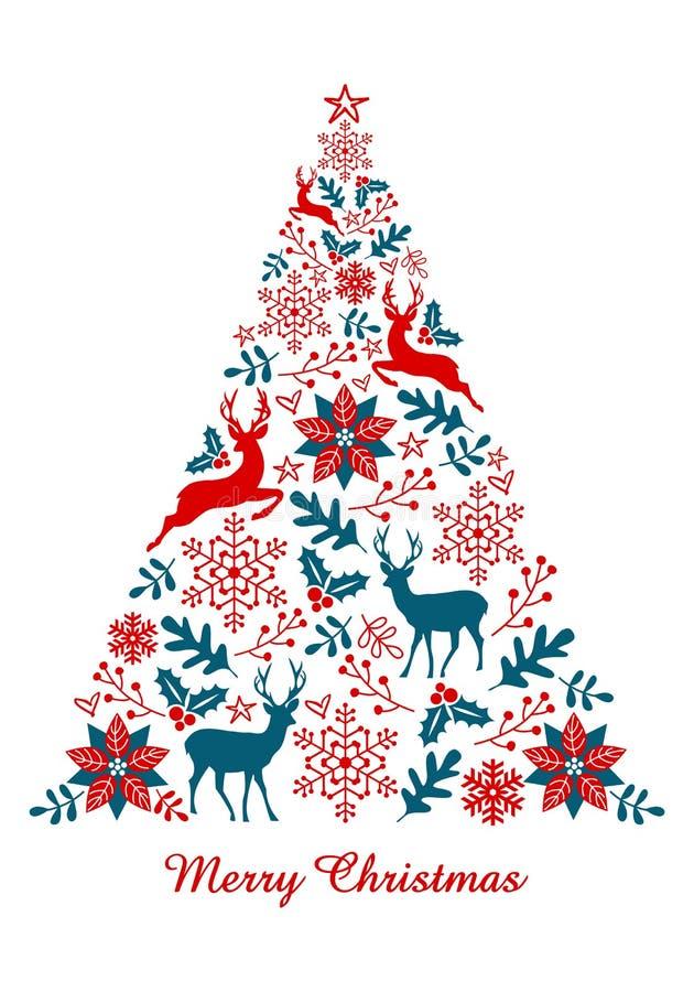 Arbre de Noël, vecteur illustration libre de droits