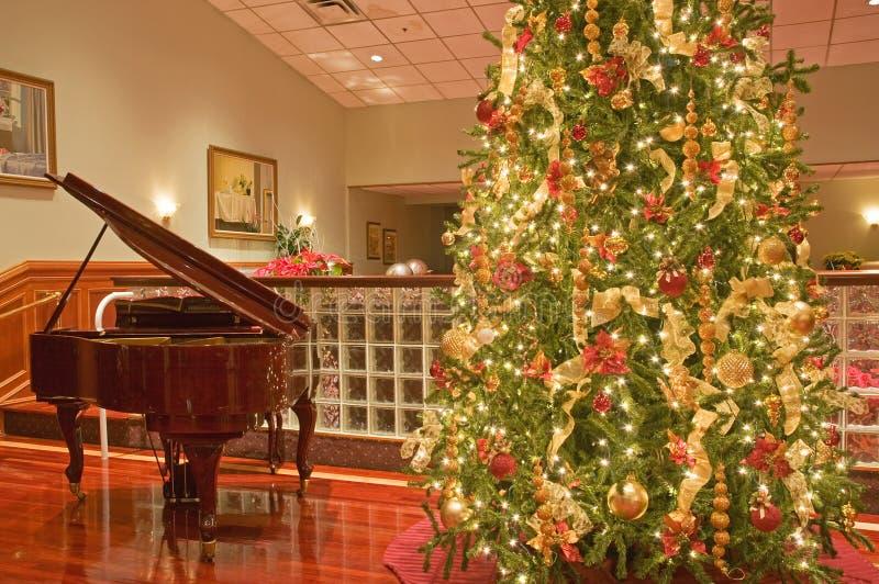 Download Arbre de piano de Noël photo stock. Image du gentil, grand - 7440576