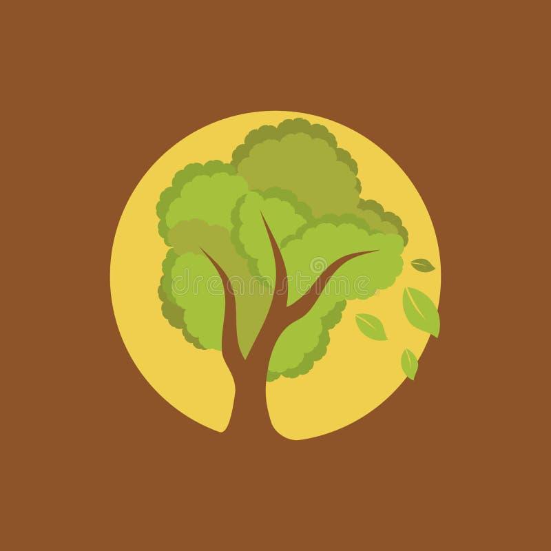 Arbre de pleine lune illustration libre de droits