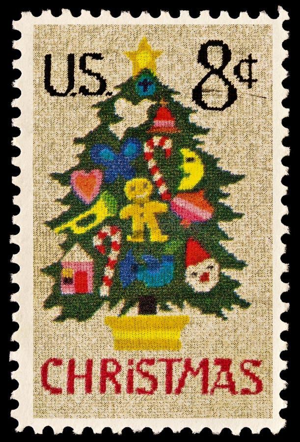 arbre de pointe d'émission de Noël photographie stock