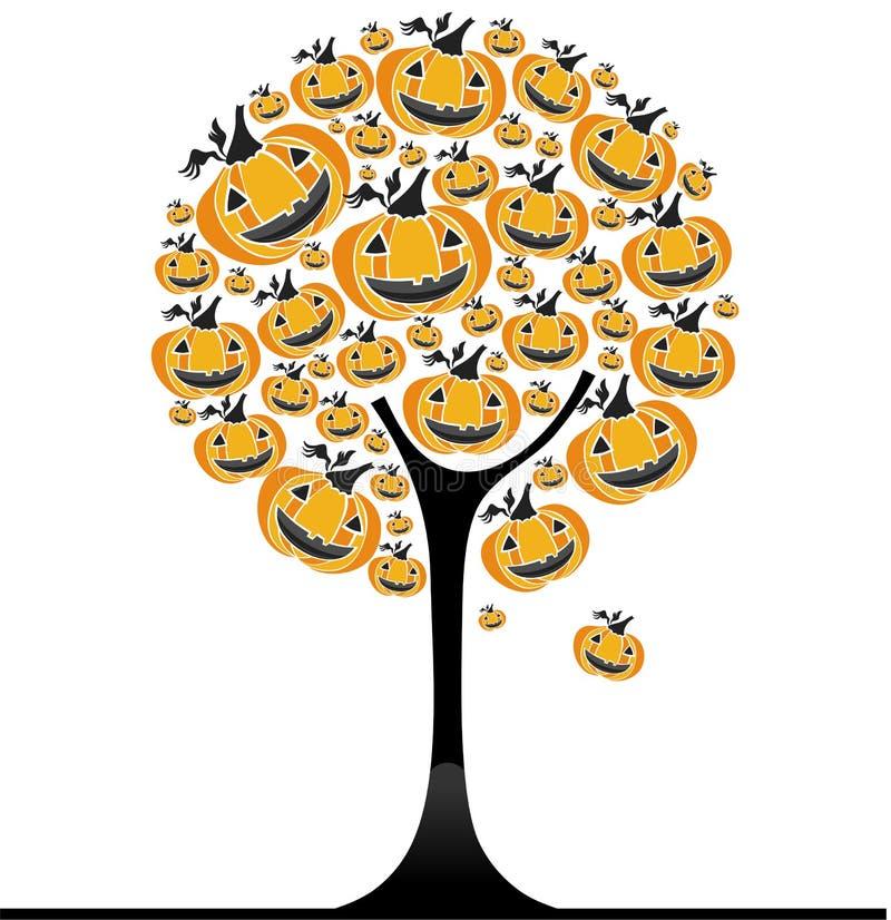 arbre de potiron de 3 veille de la toussaint illustration stock