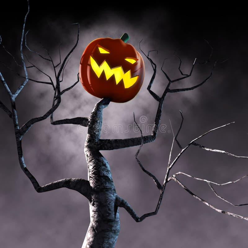 arbre de potiron de veille de la toussaint illustration libre de droits