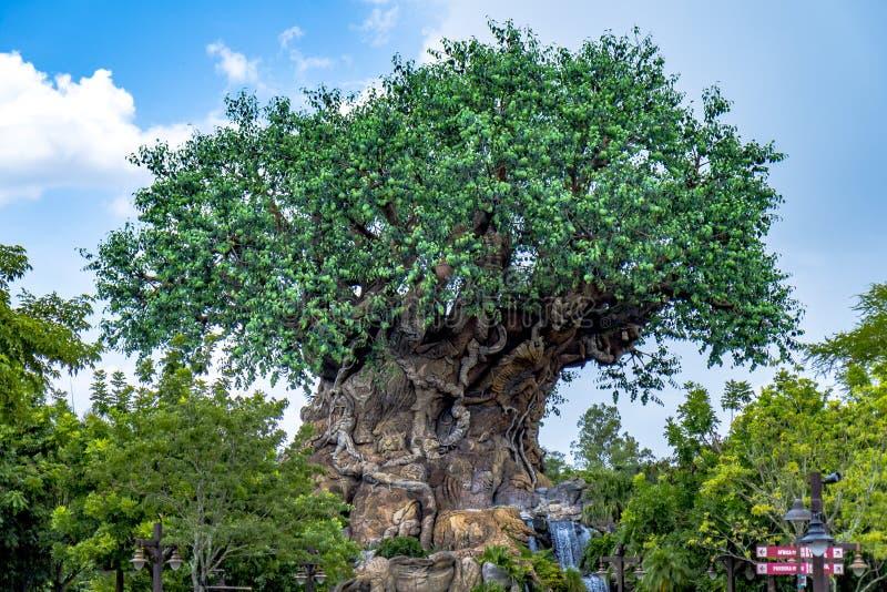 Arbre de règne animal d'Orlando Florida du monde de Disney de la vie images stock