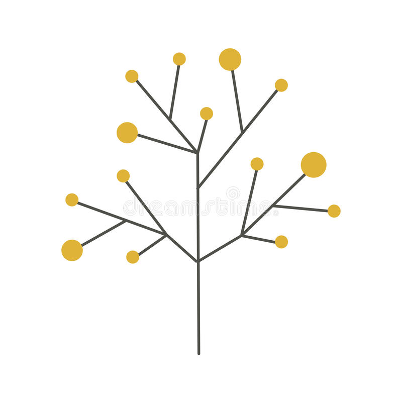 Arbre de ramifications de tige et de branches illustration stock