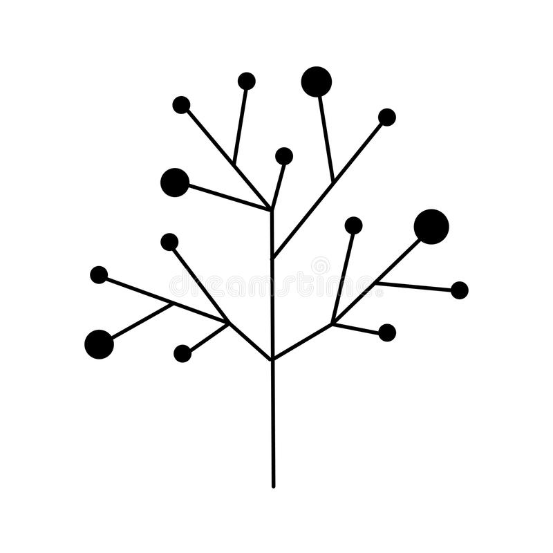 Arbre de ramifications de tige et de branches illustration libre de droits