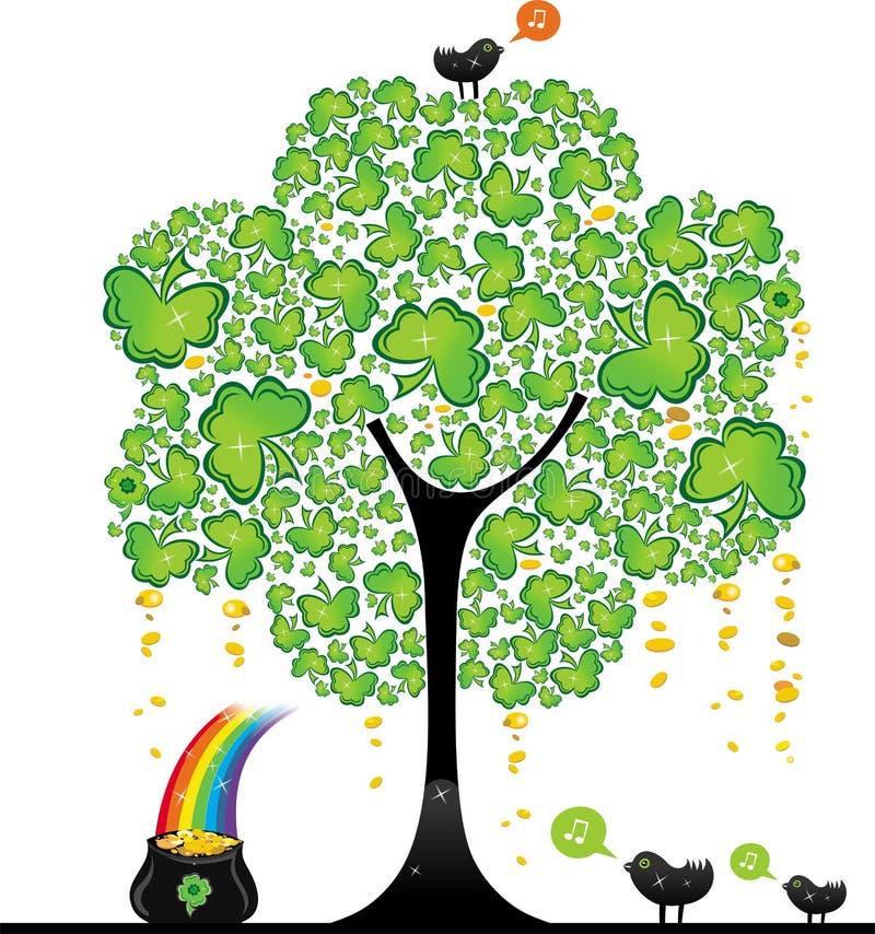 arbre de rue de patrick s de 2 jours illustration libre de droits