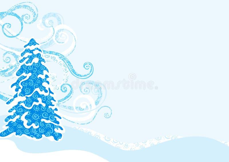 Arbre de sapin bleu de l'hiver illustration libre de droits
