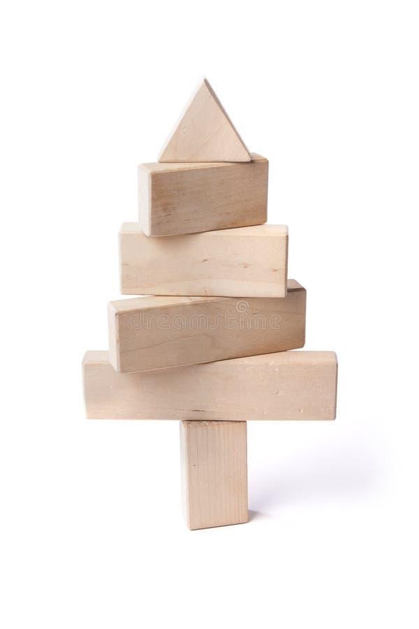 Arbre de sapin des barres en bois photographie stock